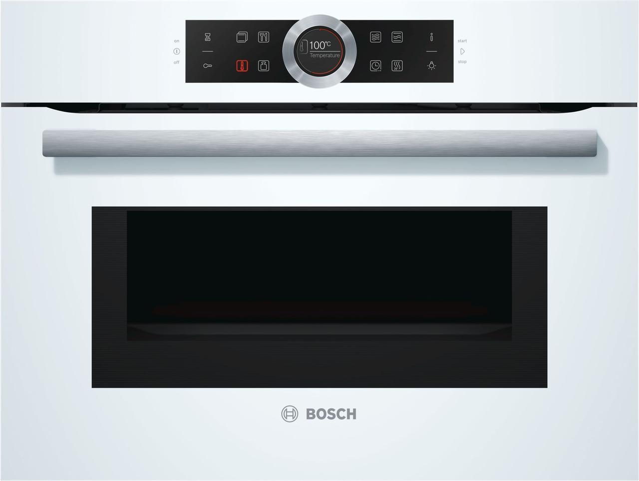 Компактный духовой шкаф с СВЧ Bosch CMG633BW1