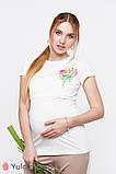 Стильна футболка для вагітних і годуючих мам ROMANA NR-20.081 (S), фото 3