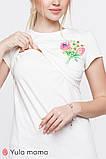 Стильна футболка для вагітних і годуючих мам ROMANA NR-20.081 (S), фото 4