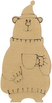 Ведмідь з чашкою 7х3см фанера(5)