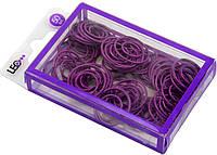 """Скріпки """"Leo"""" №L1920-12/140158 (50шт) круг. фігурні фіолетові"""