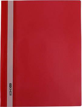 "Папка-швидкозш. ""Economix"" №E31511-03 A4 з прозор.верхом,без перфори.,глянц. червона(10)"