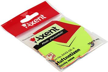 "Блок/заст. липк. куля 70х70мм 50арк. листок ""Axent"" №2443-02(1)(24)"