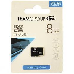 Карта памяти microSDHC 8 Gb class 10 Team Group