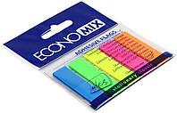 """Стікери-закладки """"Economix"""" 5 неон. кольорів,125шт №Е20945(20)(40)"""