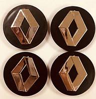 Колпачки на диски Renault 60/55мм объемные 4 штуки