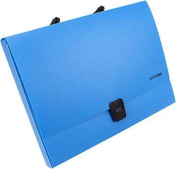 """Портфель """"Economix"""" №E31607-11 A4 пласт. на застібці (блакитний)(1)(6)"""