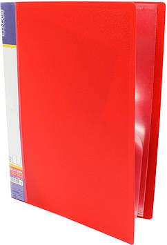 """Папка Economix"""" №E30601-03 A4 з 10ф. червона(6)(24)"""