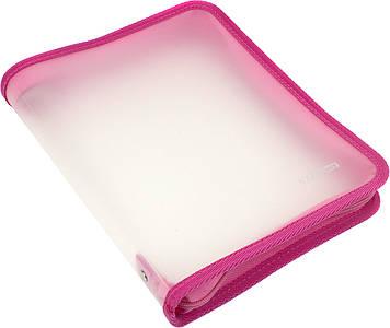 """Папка """"Economix"""" №E31645-09 B5 пласт. на блиск. (рожева)(20)"""
