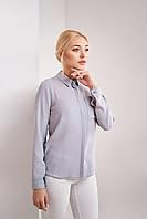 Классическая шифоновая женская рубашка