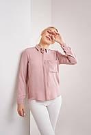 Нежная шифоновая женская рубашка в размере XS, S, M, L