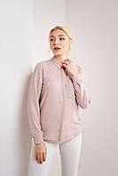 Нюдовая женская рубашка в размере XS, S, M, L