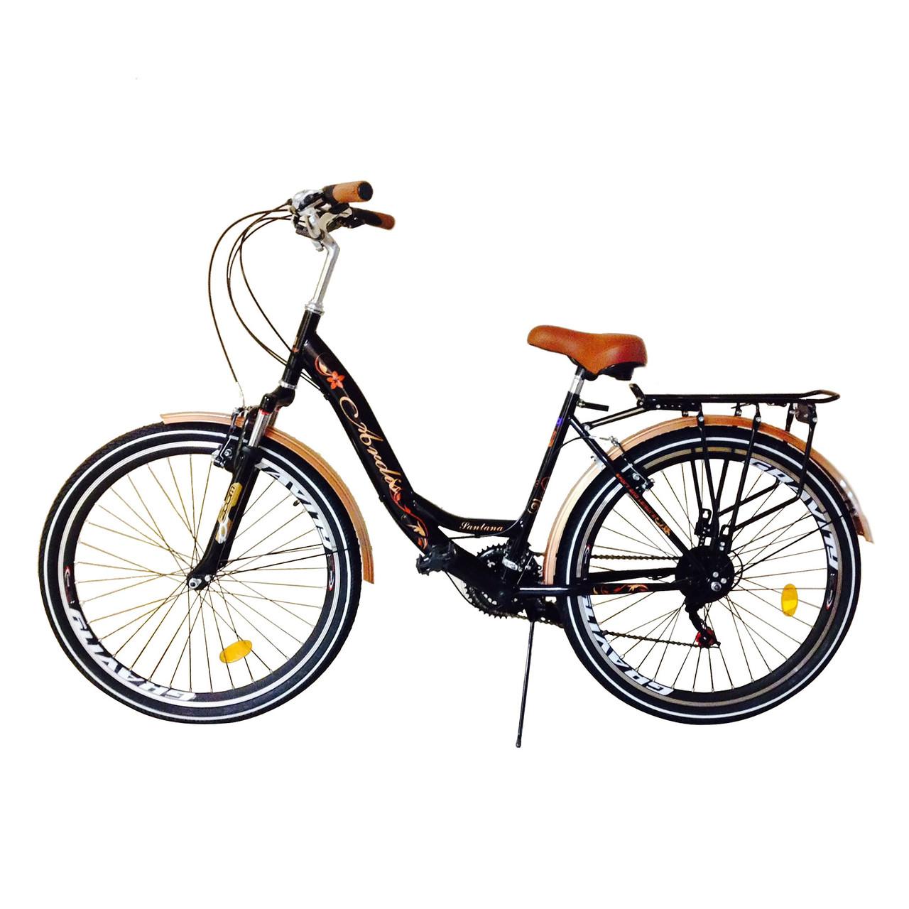 """Міський велосипед ARDIS SANTANA CTB 2 26"""" (чорно-коричневий)"""
