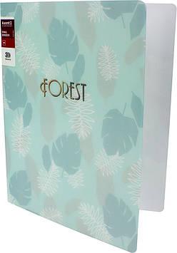 """Папка """"Axent"""" №1203-16-A A4 """"Forest"""" на 2кільця (бірюзова)"""