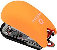 """Степлер """"Optima"""" №24/6,26/6 12арк №O40263-06 Soft Touch міні пласт. помаранчевий(12)"""