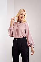 Пудровая блуза женская из Турецкого шифона