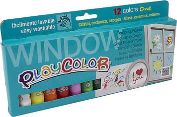 """Фарби для розпису вікон """"Instant Play Color"""" 12х10г на планшеті №0113"""