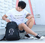Школьный Рюкзак c usb Sankey городской портфель удобен для переноса мяча синий  Код 18-7136, фото 3
