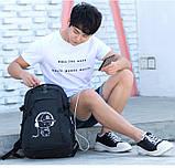 Школьный Рюкзак c usb Sankey городской портфель удобен для переноса мяча синий  Код 18-7137, фото 4