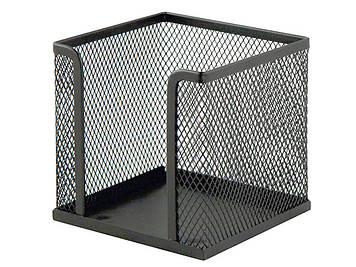 """Куб для паперу """"Axent"""" №2112-01 10х10х10см мет. чорн.(12)"""