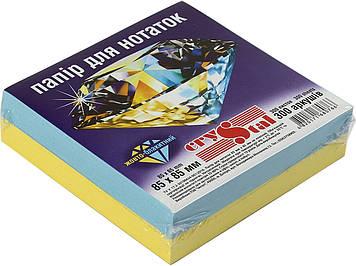 """Блок/зам. нкл 85х85мм 300арк. жовто-блакитний """"Crystal"""" №0766(40)"""