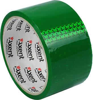 """Стрічка клейка пакув. """"Axent"""" 48ммх35м 40мкм зелена №3044-04(6)(72)"""