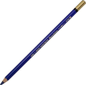 """Олівець кольор. """"Koh-i-noor"""" №3720/55 Mondeluz аквар. permanent blue/стійкий синій"""