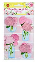 """Набір декор. 3D стікерів """"Santi"""" Квіти-2 100х150мм №741298"""