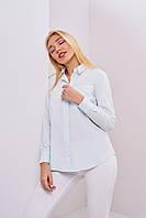 Офисная коттоновая женская рубашка