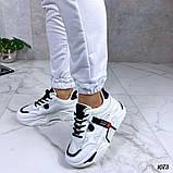 Женские кроссовки на массивной подошве белые с черным, фото 2