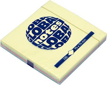 "Блок/заст. липк. куля 75х75мм 100арк. rainbow GN ""Global Notes"" №3654-98-pk1-b(12)"
