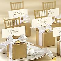 Оригинальные бонбоньерки на свадьбу в виде стульчика