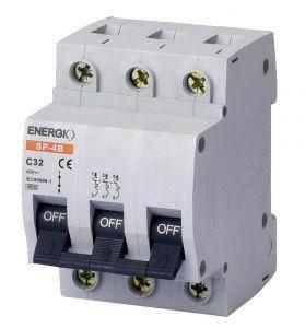 """Модульний автоматичний вимикач 3/32 """"C"""" Energio, фото 2"""