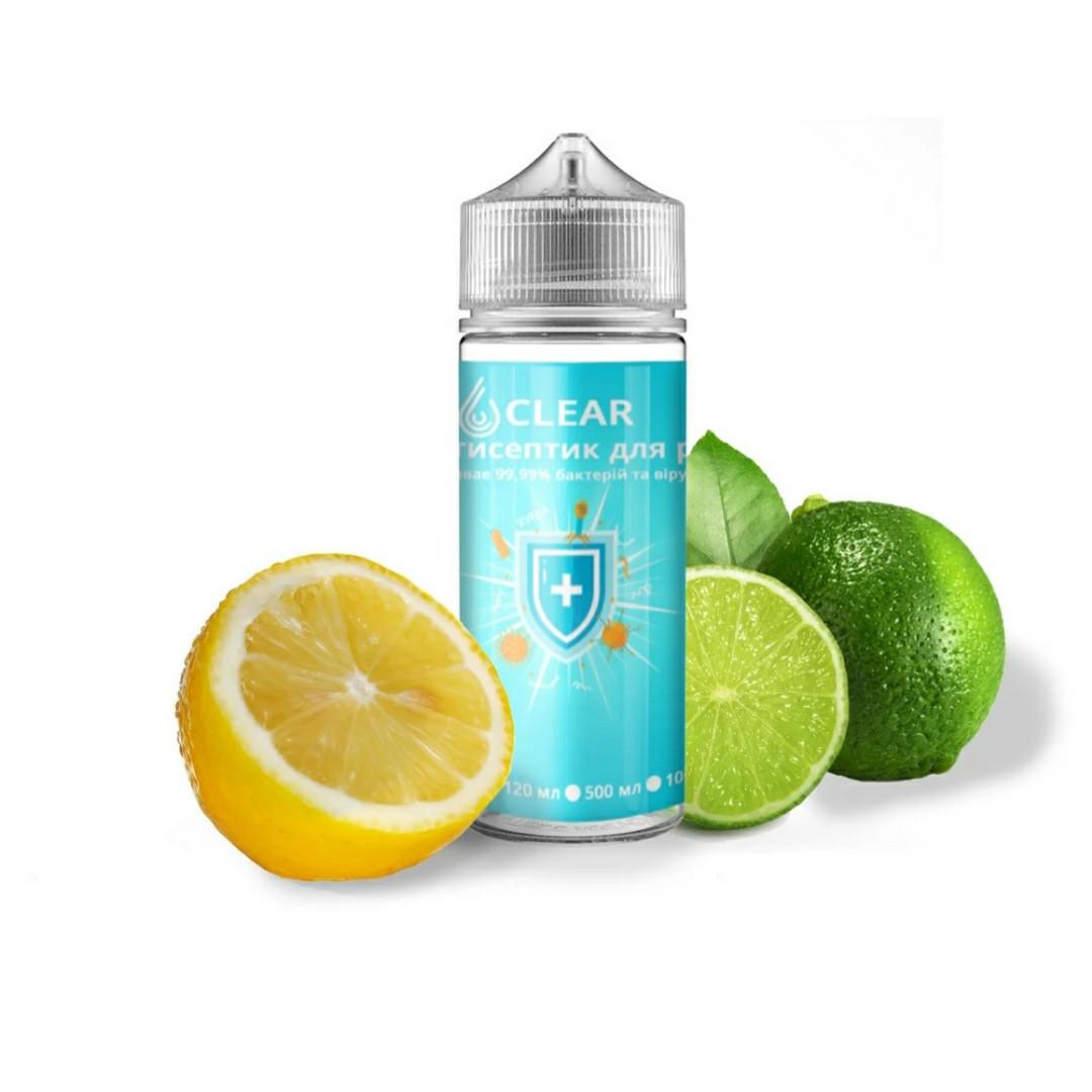 """Дезинфекор для рук """"CLEAR"""" 60 мл. з ароматом """"Лимон-Лайм"""" (Санитайзер)"""