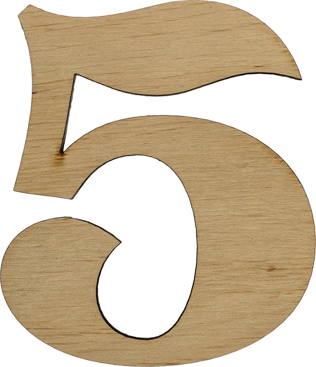 """Цифра 10см """"5"""" фанера(5)"""