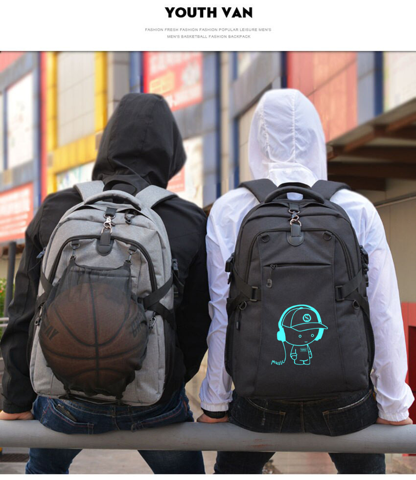 Школьный Рюкзак c usb Sankey городской портфель удобен для переноса мяча  Код 13-7122
