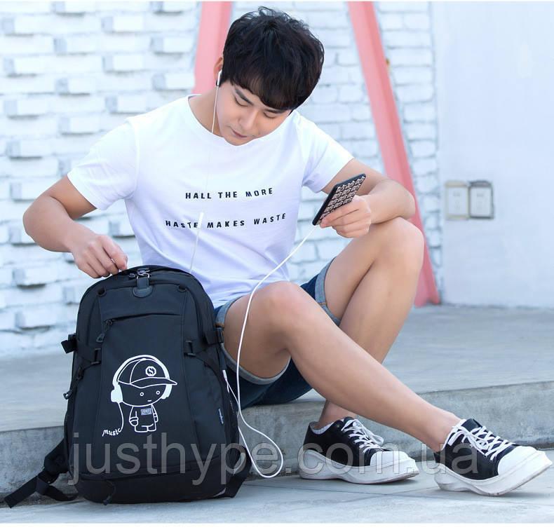 Школьный Рюкзак c usb Sankey городской портфель удобен для переноса мяча  Код 13-7155