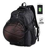 Школьный Рюкзак c usb Sankey городской портфель удобен для переноса мяча синий  Код 13-7156, фото 8