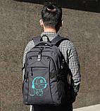 Школьный Рюкзак c usb Sankey городской портфель удобен для переноса мяча синий  Код 13-7156, фото 10