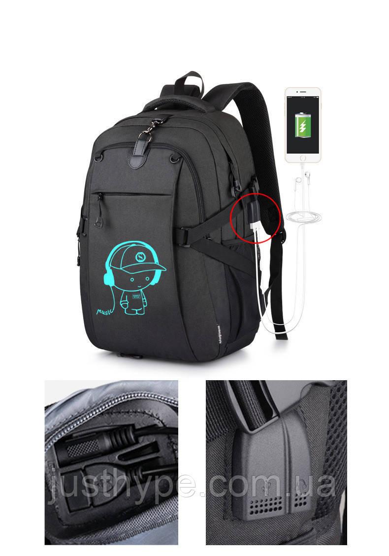 Школьный Рюкзак c usb Sankey городской портфель удобен для переноса мяча  Код 13-7163