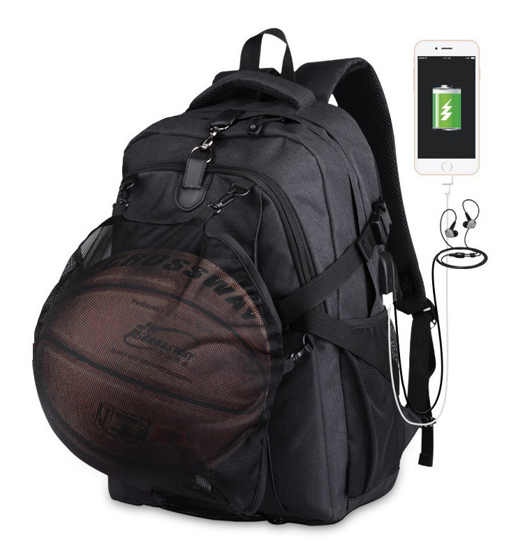 Школьный Рюкзак c usb Sankey городской портфель удобен для переноса мяча  Код 13-7187