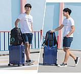 Школьный Рюкзак c usb Sankey городской портфель удобен для переноса мяча синий  Код 13-7196, фото 6