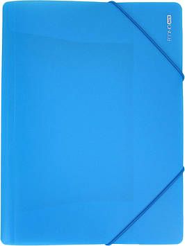 """Папка """"Economix"""" №E31633-11 A4 для докум. пласт. на рез. блакитна(1)(20)"""