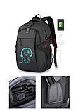 Школьный Рюкзак c usb Sankey городской портфель удобен для переноса мяча синий  Код 13-7206, фото 4