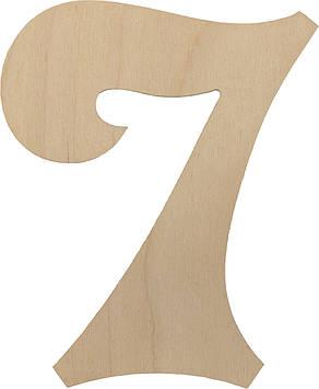 """Цифра 15см """"7"""" фанера(5)"""