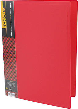 """Папка """"Scholz"""" №05502 A4 затиск. карм. PP червона(1)(20)"""