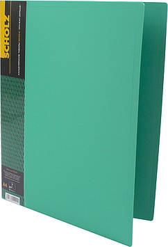 "Папка ""Scholz"" №05502 A4 затиск. карм. PP зелена(1)(20)"