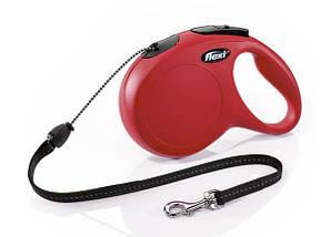 Рулетка FLEXI Classic M, 8м, до 20кг, шнур, красная (2801)