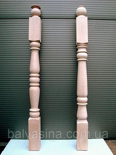 Дерев'яна балясина-стовп з бука точена