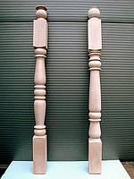 Деревянная балясина-столб из бука точёная, фото 1